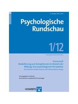 Abbildung von Fleischer / Leutner / Klieme | Modellierung von Kompetenzen im Bereich der Bildung: Eine psychologische Perspektive | 2012 | Themenheft der