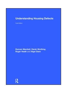 Abbildung von Marshall / Worthing / Heath   Understanding Housing Defects   2013