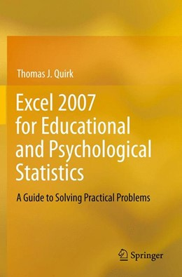 Abbildung von Quirk | Excel 2007 for Educational and Psychological Statistics | 2012