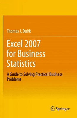 Abbildung von Quirk | Excel 2007 for Business Statistics | 2012 | A Guide to Solving Practical B...