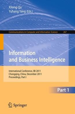 Abbildung von Qu / Yang   Information and Business Intelligence   2012   International Conference, IBI ...   267