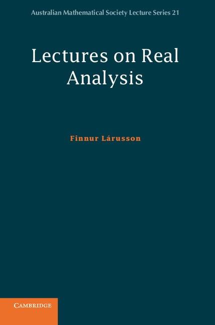 Abbildung von Lárusson   Lectures on Real Analysis   2012