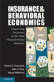 Abbildung von Kunreuther / Pauly / McMorrow | Insurance and Behavioral Economics | 2013