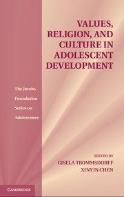 Abbildung von Trommsdorff / Chen | Values, Religion, and Culture in Adolescent Development | 2012