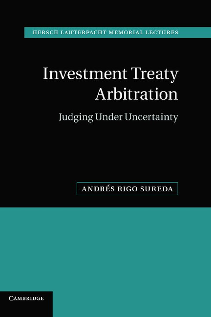 Abbildung von Rigo Sureda   Investment Treaty Arbitration   2012