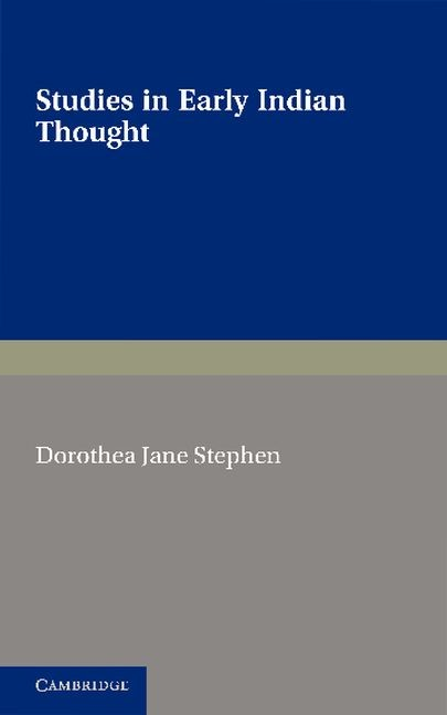 Abbildung von Stephen | Studies in Early Indian Thought | 2012