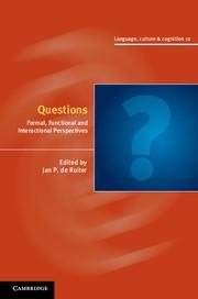 Abbildung von de Ruiter | Questions | 2012