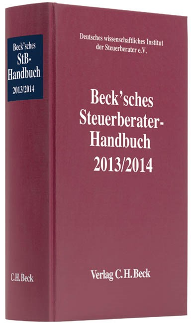 Beck'sches Steuerberater-Handbuch 2013/2014 | 14. Auflage, 2013 | Buch (Cover)