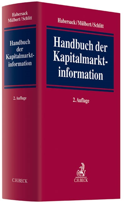 Handbuch der Kapitalmarktinformation   Habersack / Mülbert / Schlitt   Buch (Cover)