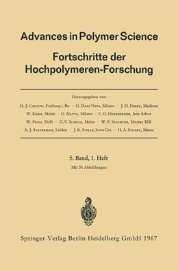 Abbildung von Cantow / Dall'Asta / Ferry | Advances in Polymer Science | 1967 | Fortschritte der Hochpolymeren... | 5/1