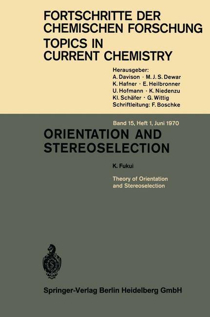 Abbildung von Houk / Hunter / Krische | Orientation and Stereoselection | 1970