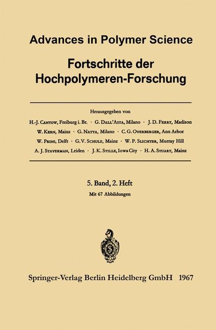 Advances in Polymer Science / Fortschritte der Hochpolymeren-Forschung | Cantow / Dall'Asta / Ferry, 1967 | Buch (Cover)
