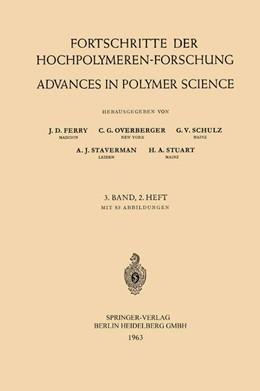 Abbildung von Ferry / Overberger / Schulz | Fortschritte der Hochpolymeren-Forschung / Advances in Polymer Science | 1963 | 3/2