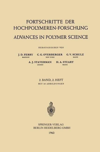 Abbildung von Ferry / Overberger / Schulz   Fortschritte der Hochpolymeren-Forschung / Advances in Polymer Science   1960