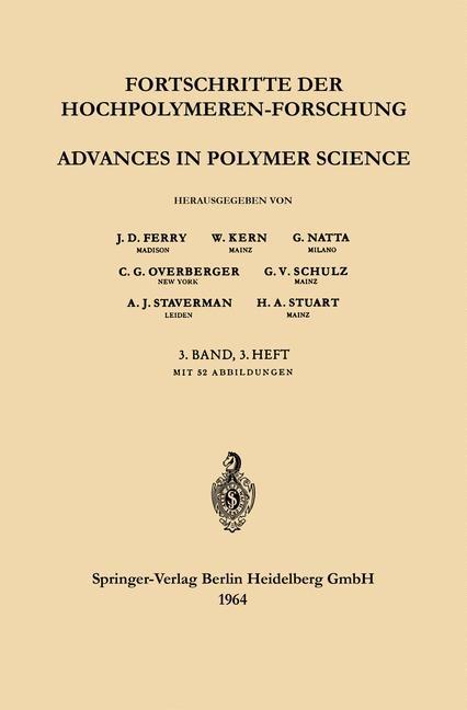 Advances in Polymer Science / Fortschritte der Hochpolymeren-Forschung | Ferry / Kern / Natta, 1964 | Buch (Cover)