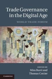 Abbildung von Burri / Cottier | Trade Governance in the Digital Age | 2012