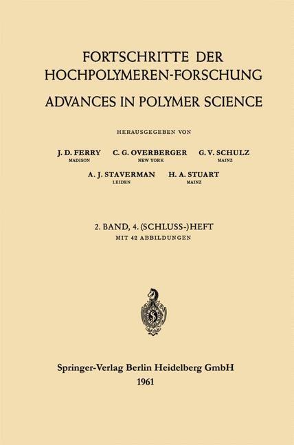 Advances in Polymer Science / Fortschritte der Hochpolymeren-Forschung | Ferry / Overberger / Schulz, 1961 | Buch (Cover)