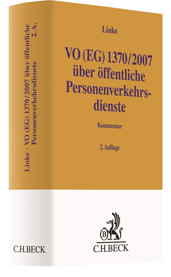 VO (EG) 1370/2007 | Linke | 2. Auflage, 2018 | Buch (Cover)