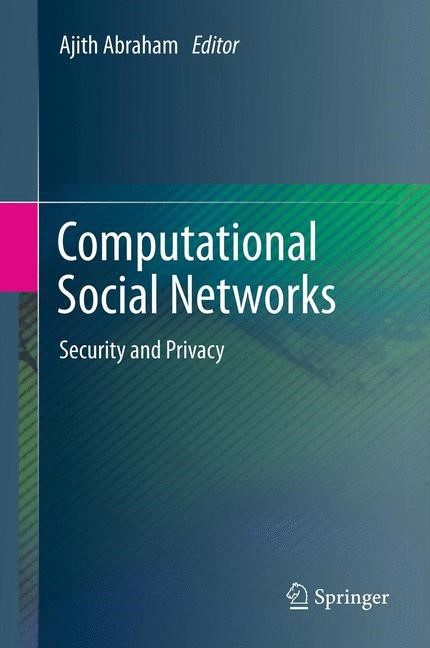Computational Social Networks | Abraham, 2012 | Buch (Cover)
