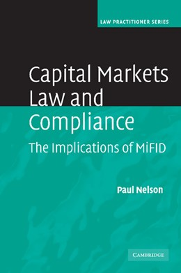 Abbildung von Nelson   Capital Markets Law and Compliance   2012   The Implications of MiFID