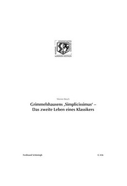 Abbildung von Besch | Grimmelshausens 'Simplicissismus' - Das zweite Lebens eines Klassikers | 1. Aufl. 2012 | 2012 | 436