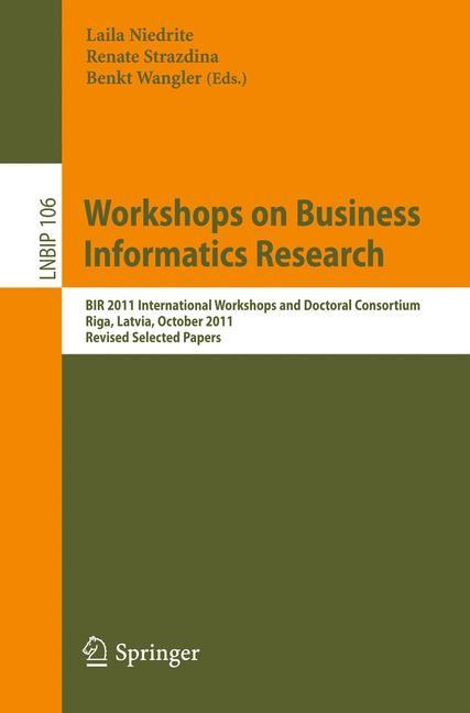Abbildung von Niedrite / Strazdina / Wangler | Workshops on Business Informatics Research | 2012