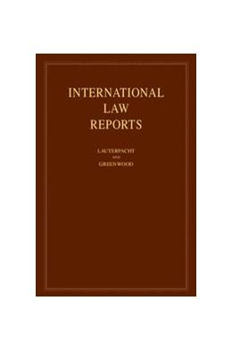 Abbildung von Lauterpacht / Greenwood / Lee | International Law Reports | 2012