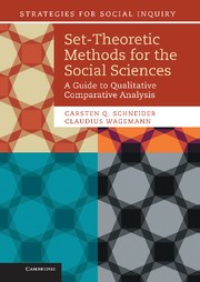 Abbildung von Schneider / Wagemann   Set-Theoretic Methods for the Social Sciences   2012