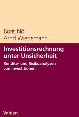 Abbildung von Nöll / Wiedemann   Investitionsrechnung unter Unsicherheit   2008   Rendite-/Risikoanalyse von Inv...