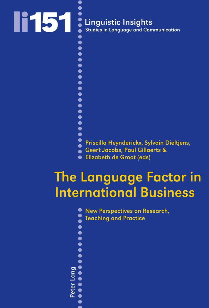 Abbildung von Groot | The Language Factor in International Business | 2012