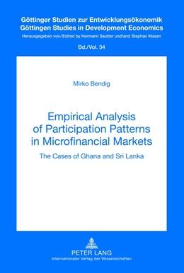 Abbildung von Bendig | Empirical Analysis of Participation Patterns in Microfinancial Markets | 1. Auflage 2012 | 2012 | The Cases of Ghana and Sri Lan... | 34