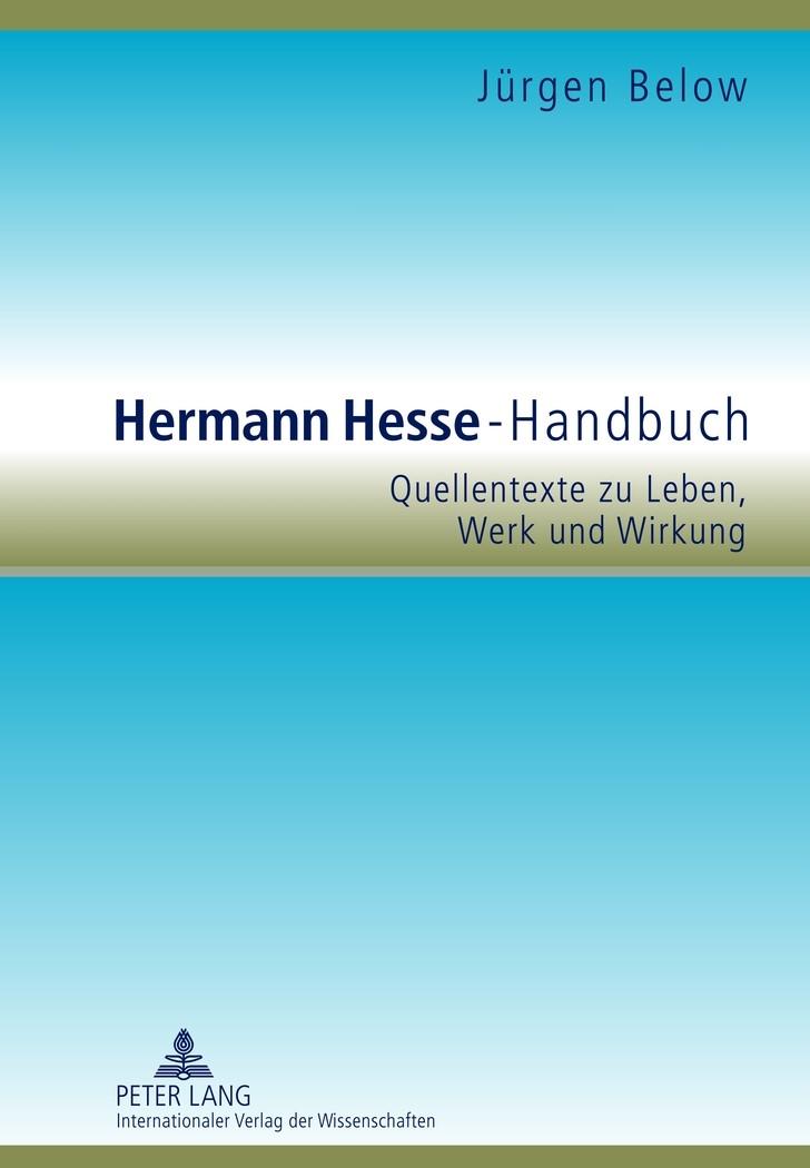 Abbildung von Below | Hermann Hesse-Handbuch | 2012