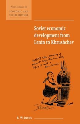 Abbildung von Davies | Soviet Economic Development from Lenin to Khrushchev | 1998