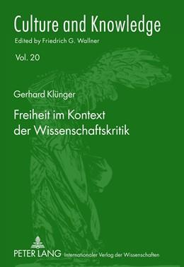 Abbildung von Klünger | Freiheit im Kontext der Wissenschaftskritik | 2012 | 20