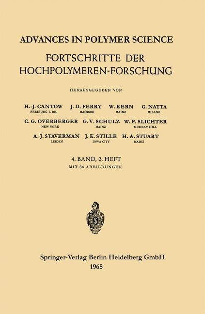 Advances in Polymer Science / Fortschritte der Hochpolymeren-Forschung | Cantow / Ferry / Kern, 1965 | Buch (Cover)