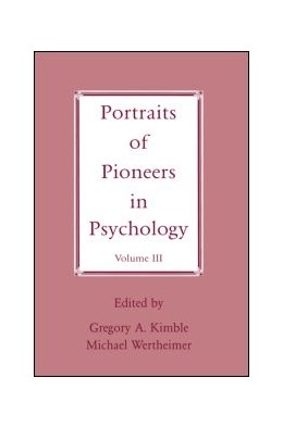 Abbildung von Wertheimer / Kimble | Portraits of Pioneers in Psychology | 1998 | Volume III