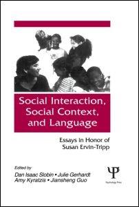 Abbildung von Slobin / Gerhardt / Kyratzis / Guo | Social interaction, Social Context, and Language | 1996