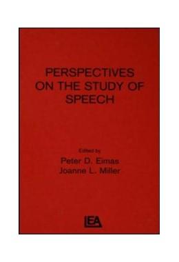 Abbildung von Eimas / Miller | Perspectives on the Study of Speech | 1982