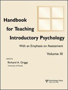 Abbildung von Hebl / Brewer / Benjamin, Jr.   Handbook for Teaching Introductory Psychology   2001