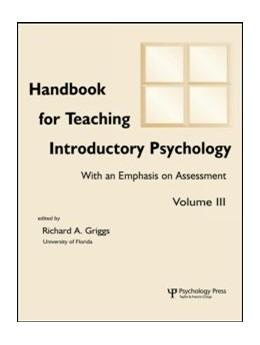 Abbildung von Hebl / Brewer / Benjamin, Jr. | Handbook for Teaching Introductory Psychology | 2001 | Volume Ii