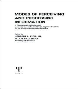 Abbildung von Pick, Jr. / Saltzman | Modes of Perceiving and Processing Information | 1978