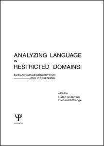 Abbildung von Grishman / Kittredge   Analyzing Language in Restricted Domains   1986