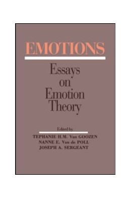 Abbildung von van Goozen / Van de Poll / Sergeant | Emotions | 1994 | Essays on Emotion Theory