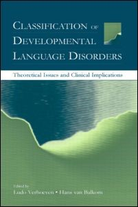 Abbildung von Verhoeven / van Balkom | Classification of Developmental Language Disorders | 2003