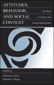 Abbildung von Terry / Hogg | Attitudes, Behavior, and Social Context | 1999