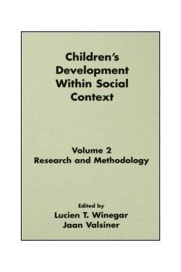Abbildung von Winegar / Valsiner | Children's Development Within Social Context | 1992 | Volume II: Research and Method...