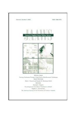 Abbildung von Prescott / Buchanan-Smith | Training Nonhuman Primates Using Positive Reinforcement Techniques | 2003 | A Special Issue of the journal...