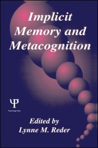 Abbildung von Reder | Implicit Memory and Metacognition | 1996