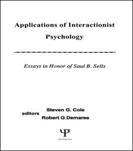 Abbildung von Cole / Demaree / Curtis   Applications of interactionist Psychology   1988