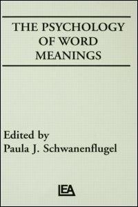 Abbildung von Schwanenflugel | The Psychology of Word Meanings | 1991
